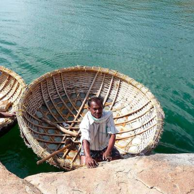 Traditional fishing on Lake Pichola