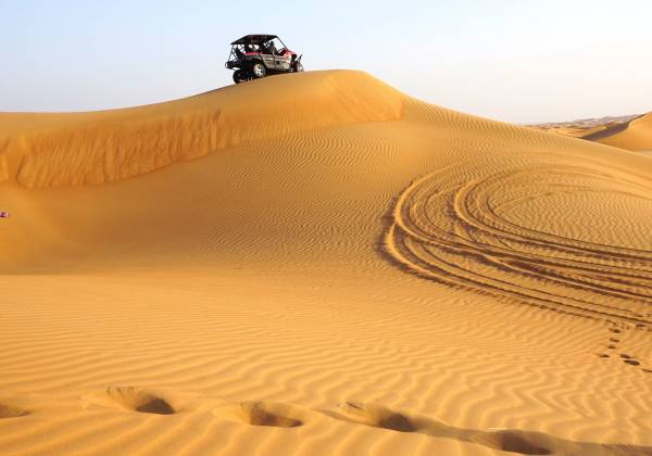 Sand safari with jeep
