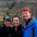 Our guests in front of Rhonda Ainsworth Peru