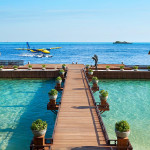 Footbridge over the sea at Ellaidhoo Maldives by Cinnamon in Male, Maledives