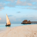 Take a leisurely sunset cruise in Zanzibar, sailing past the beautiful shoreline