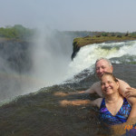 Enchanting Travels Guest - Couples enjoying at Victoria Falls Zimbabwe, Africa
