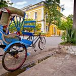 A vintage tricycle carriage in Pondicherry, Enchanting Travels, Highlights of India