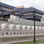 Tempelbau in Kandy, Sri Lanka