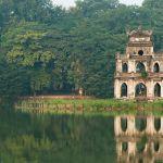 Altes Gebäude in Hanoi, Vietnam