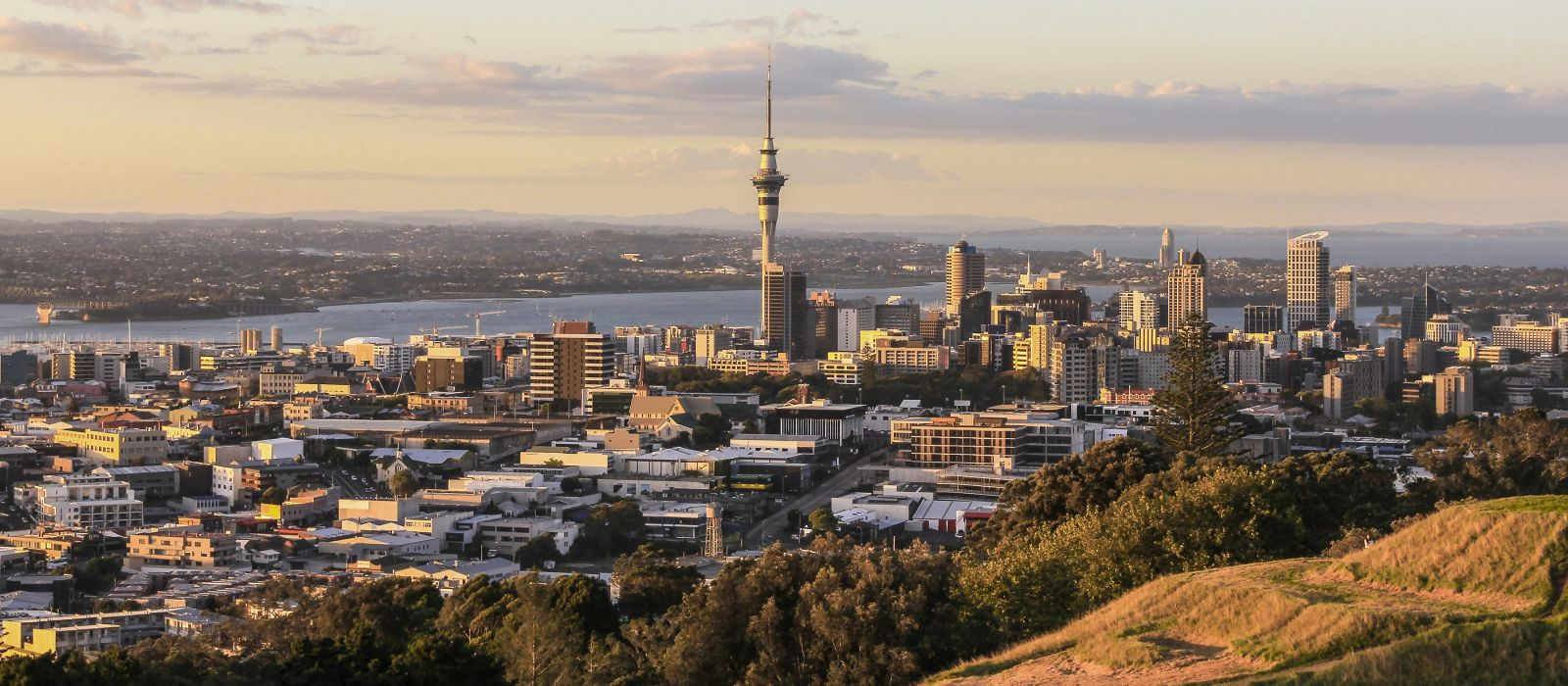 Auckland View from Mt Eden, New Zealand