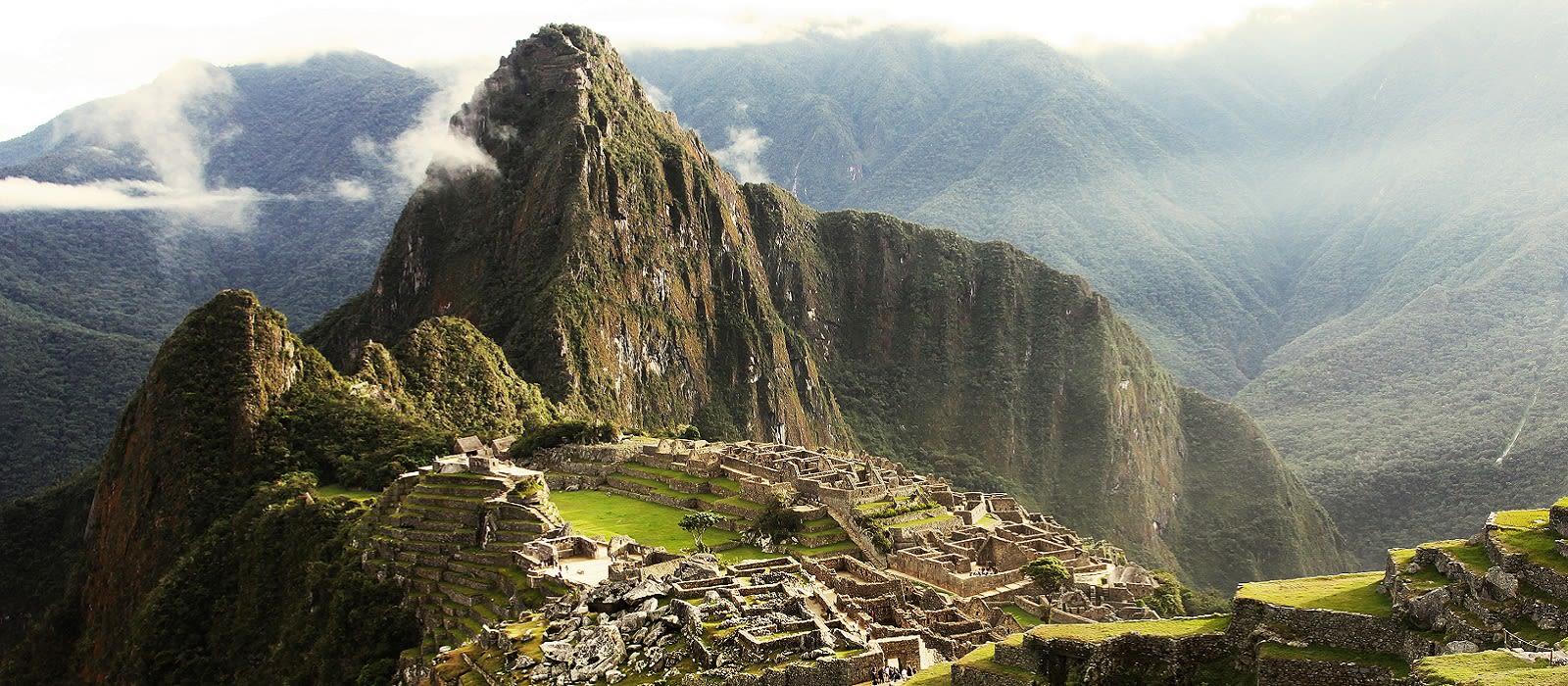 Vogelperspektive Machu Picchu