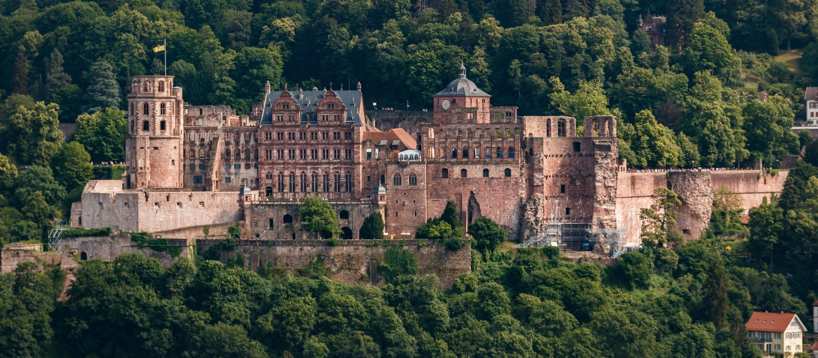 The castle (castle ruin) in Heidelberg, Baden Wuerttemberg, Germany, Europe