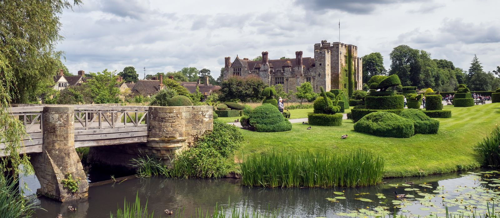 View of Hever Castle and Grounds in Hever Kent, UK, Europe