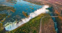 Victoria Falls between Zambia and Zimbabwe
