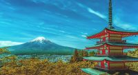 Der Mount Fuji in Japan