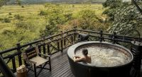 Outdoor whirlpool at Four Seasons Tented Camp, Golden Triangle Hotel in Chiang Saen, Thailand