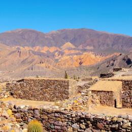 Pucara de Tilcara Quebrada de Humahuaca a mountain valley Jujuy Argentina South America