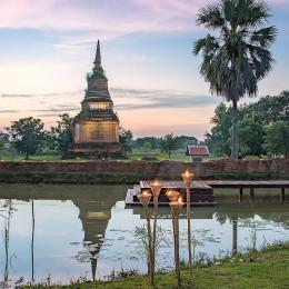 Exterior view of Sriwilai Sukhotai Resort & Spa in Sukhothai, Thailand