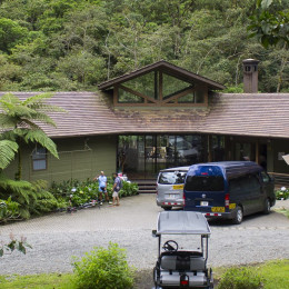 Enchanting Travels - Costa Rica Tours - Bajos del Toro Hotels - El Silencio Lodge - Hotel Entrance