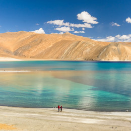 Enchanting Travels India Tours Leh Pangong lake in autumn ,leh ladakh india - himalaya trekking