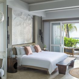 Double room at Shangri-La's Le Touessrok Resort & Spa Hotel in Mauritius, Africa