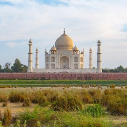 Enchanting Travels India Tours Amazing view of Taj Mahal in the Evening in Agra, Fabulous Taj Mahal