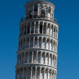Simple view of Pisa Tower in Tuscany Region in Central Italy, Europe