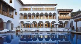 Exterior pool at Belmond Palacio Nazarenas, Cusco, Peru