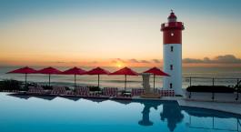 Pool mit Blick aufs Meer im Oyster Box Hotel & Spa in Durban, Südafrika