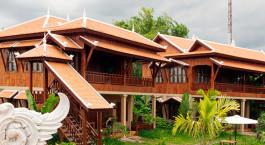 Außenansicht imHotel Maisons Wat Kor Hotel in Battambang, Kambodscha