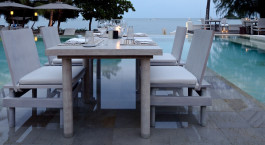 Abendessen im Hotel Sala Samui Resort & Spa in Koh Samui, Thailand