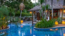 Pool at hotel Villa Samadhi, Kuala Lumpur, Malaysia