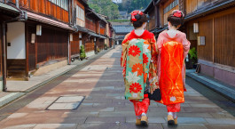 Enchanting Travels Japan Tours Kanazawa Japanese Geisha at Higashi-Chaya-gai - Geisha District in Kanazawa