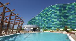Pool at Hilton Capital Grand Abu Dhabi Hotel in Abu Dhabi