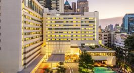 Exterior view of COMO Metropolitan Bangkok Hotel in Bangkok, Thailand
