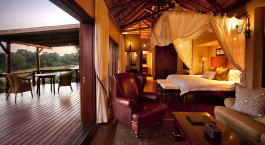 Double room with private terrace at Lion Sands Narina Lodge Hotel, South Kruger in South Africa
