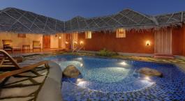 Pool at Evolve Back Kuruba Safari Lodge Hotel in Nagarhole, South India
