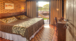 Double room at Caiman Ecological Refuge Baiazinha Lodge Hotel in Pantanal South, Brazil