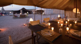 Dinner at Inara Camp in Agafay Desert, Morocco