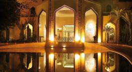 Außenansicht, ES Saadi Hotel in Marrakesch, Marokko