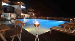 Swimmingpool im Hotel Eden El Rouh in Oualidia, Marokko