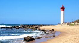 Durban Sehenswürdigkeiten: Strand mit Leuchtturm