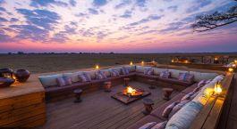 Campfire at Shumba Camp in Kafue, Zambia