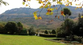 Outdoor area at Cleopatra Mountain Farmhouse in Central & Northern Drakensberg, South Africa
