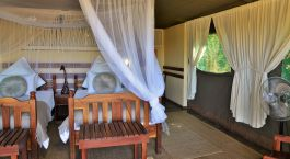 Bedroom at Elephant Valley Lodge at the Chobe National Park, Botswana