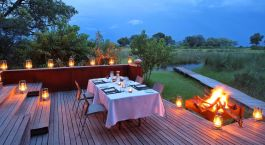 Dinner at Xudum Camp in Okavango Delta, Botswana
