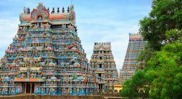Kunterbunte Tempelanlagen in Trichy