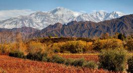 Landschaft im Entre Cielos in Mendoza, Argentinien