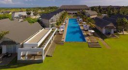 Overview von dem Pool im Anilana Hotel in Sri Lanka, Pasikudah