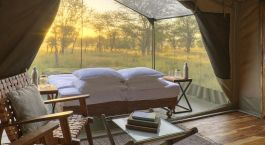 Enchanting Travels Tanzania Tours Serengeti Hotels Olakira Migration Camp Olakira - View from the lounge area onto the star gazing tent