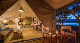Room at Ruckomechi Camp in Mana Pools, Zimbabwe