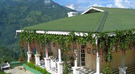 Bungalow exterior view at Glenburn Tea Estate in Darjeeling, India