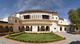 Exterior view of Fort Barli in Barli, Rajasthan, India