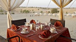 Lunch at Manvar Desert Camp in Rajasthan, North India